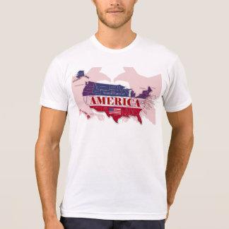 USA-roter kahler Adler-T - Shirt