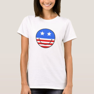 USA-Smiley T-Shirt