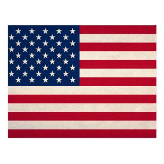 USA-Staatsflagge Postkarte