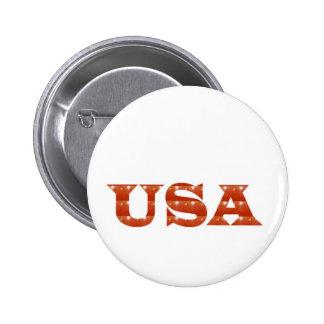 USA - Stolzer IDENTITÄT Schein ROTE ENERGIE-STÄRKE Runder Button 5,7 Cm