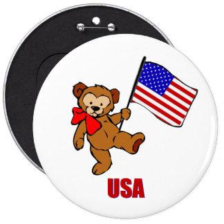 USA-Teddybär-Knopf Runder Button 15,3 Cm