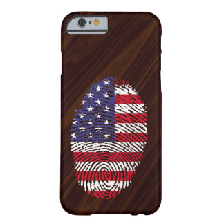USA-Touchfingerabdruckflagge Barely There iPhone 6 Hülle