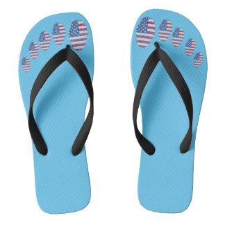 USA-Touchfingerabdruckflagge Flip Flops