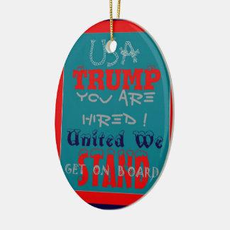 USA-Trumpf werden Sie eingestellt! Vereinigt Ovales Keramik Ornament