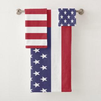 USA-USA-amerikanische Flagge Badhandtuch Set