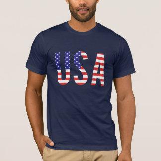 USA - USA-Flaggen-Buchstaben T-Shirt