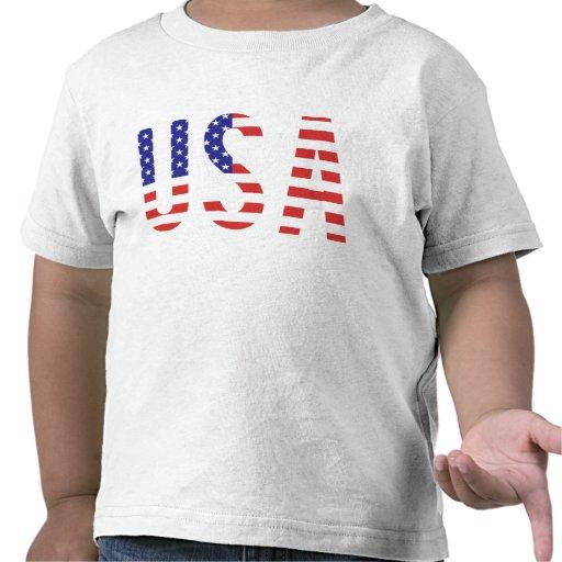 USA - USA-Flaggen-Buchstaben T-Shirts