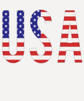 USA - USA-Flaggen-Buchstaben Shirts