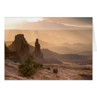 USA; Utah; Canyonlands Nationalpark. Ansicht von Karte