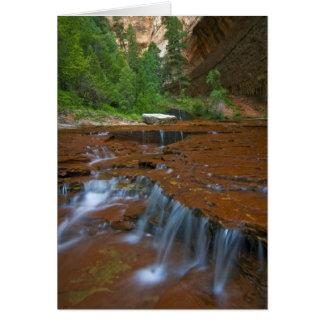 USA, Utah, Zion Nationalpark. Landschaftlich von Karte