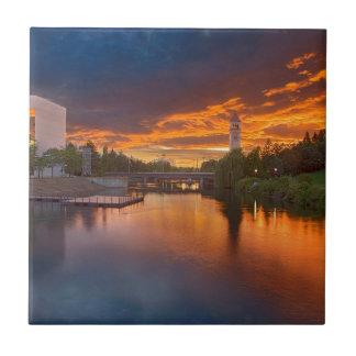 USA, Washington, Spokane, Flussufer-Park Fliese
