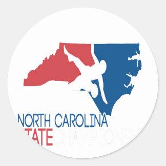 USA-Wrestling Nord-Carolina Runder Aufkleber