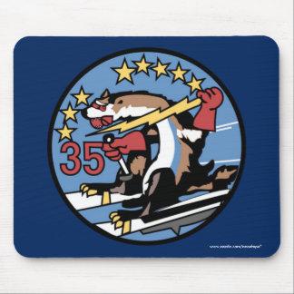 "USAFA Squadon 35"" enorme wilde Weasels-"" Mousepads"
