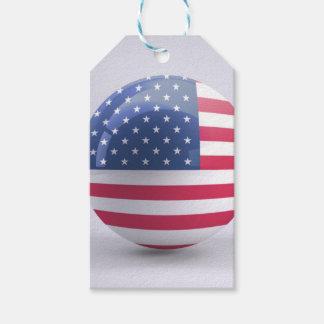 USAflagge Kreisentwurf Geschenkanhänger