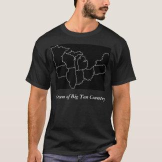 usamap2, Bürger des großen zehn Land-Schwarzen T-Shirt