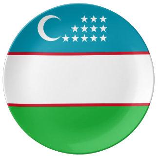 Usbekistan-Flagge Teller