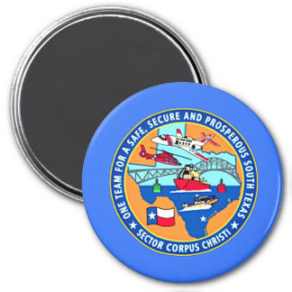 USCG Station Corpus Christi Texas Runder Magnet 7,6 Cm