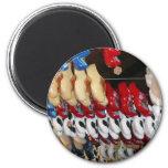 Usine de chaussure en bois magnet rond 8 cm