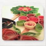 Usines de fleur de Quilling Tapis De Souris