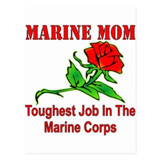 Usmc-Marinemamma-stärkster Job im Postkarte