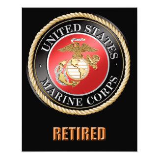 USMC pensionierte Foto-Erweiterung Fotodruck