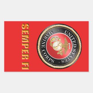 USMC Semper FI Rechteckiger Aufkleber