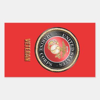 Usmc-Veteran StickerUSMC, Rechteckiger Aufkleber