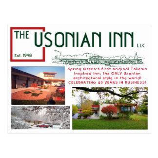 Usonian Gasthaus-Jahrestagspostkarte Postkarte