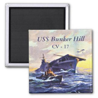 USS Bunker Hill in Meer Quadratischer Magnet