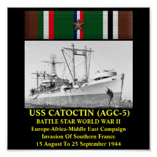USS CATOCTIN AGC-5 AFFICHE