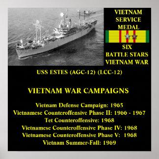 USS ESTES (AGC-12)/(LCC-12) POSTER