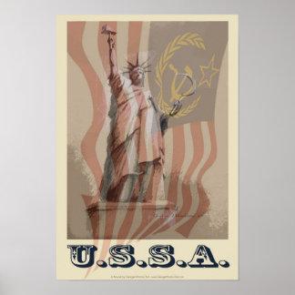 """""""USSA"""" 13x19 politisches Plakat"""