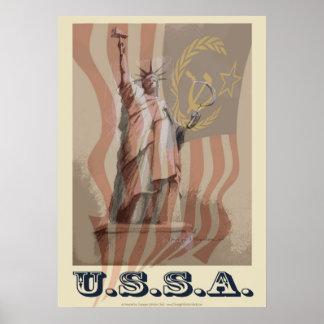 """""""USSA"""" 20x28 politisches Plakat"""
