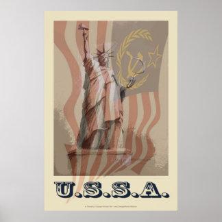 """""""USSA"""" 24x36 politisches Plakat"""
