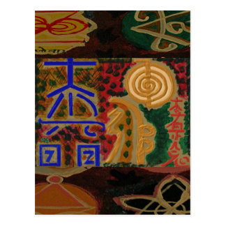 USUI REIKI Symbole Postkarte