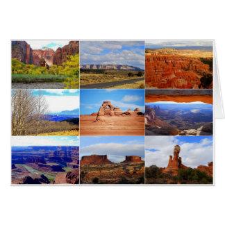 Utah-Collage Karte
