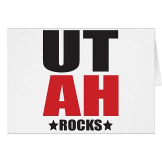 Utah-Felsen! Staats-Geist-Geschenke und Kleid Karte