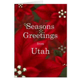 Utah-Poinsettia-Festtages-Weihnachten Karte