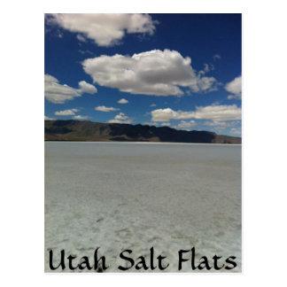 Utah-Salz-Ebene-Landschaft Postkarte
