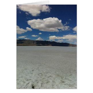 Utah-Salz-Ebenen schreiben Ihre Selbst Karte
