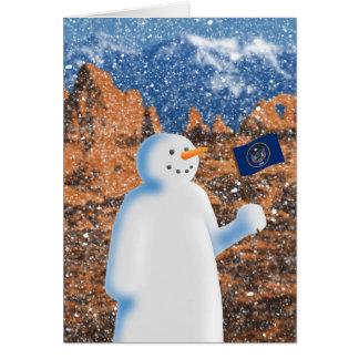 Utah-Schneemann Karte