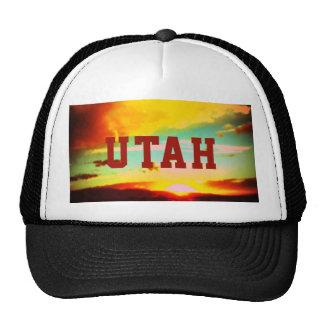 Utah-Sonnenuntergang-Fernlastfahrer-Hut Kultmütze
