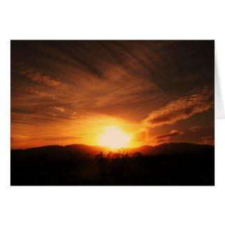 Utah-Sonnenuntergang Karte