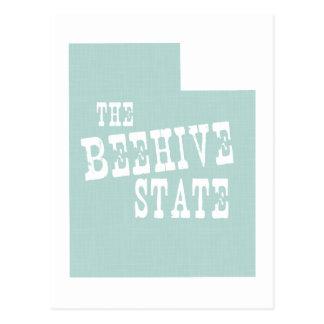 Utah-Staats-Motto-Slogan Postkarte
