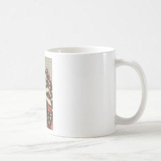 Utamaro Yuyudo Ukiyo-e die Frisur der Frauen Kunst Tasse