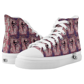 Utthita Yoga-Mädchen - Zipschuhe, hohe Spitzen Hoch-geschnittene Sneaker