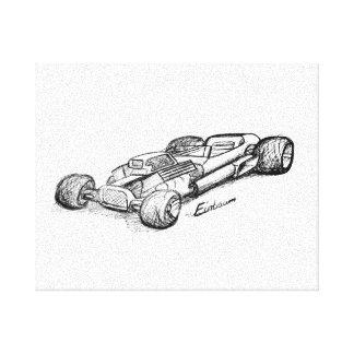 V8 Einbauen HotRod Leinwanddruck
