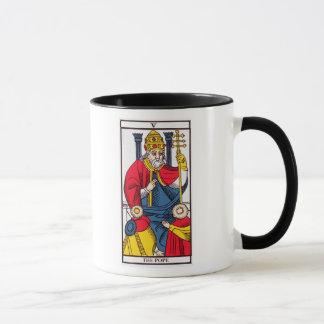 V der Papst, Tarotkarte Tasse