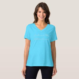 V der Umarmungs-Frauen - Hals Shirt