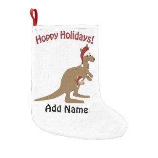 Vacances de houblon ! kangourou de Noël Petite Chaussette De Noël